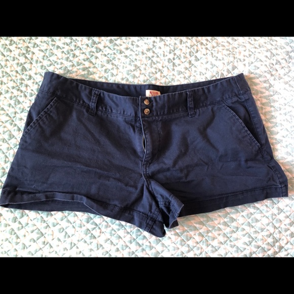 Mossimo Supply Co. Pants - Mossimo blue shorts size 15 low rise juniors